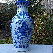 Для дома и интерьера ручной работы. Ярмарка Мастеров - ручная работа Китайская фарфоровая ваза с птицами, ручная работа. Handmade.
