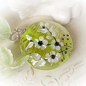 Украшения handmade. Livemaster - original item Lampwork pendant