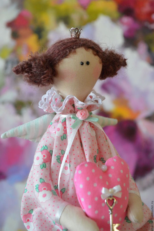 Куклы Тильды ручной работы. Ярмарка Мастеров - ручная работа. Купить Ангел-принцесса. Handmade. Розовый, кукла ручной работы