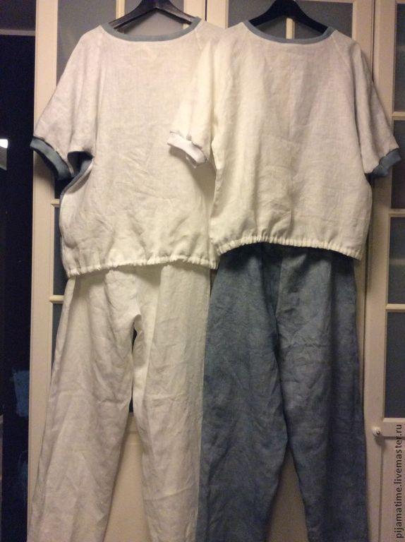 e57e9ed0db35c0b Пижамы для двоих из льна, окрашенные вручную – купить в интернет ...