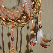 """Для дома и интерьера ручной работы. Ярмарка Мастеров - ручная работа Ловец снов """"Оранжевая радость"""". Handmade."""