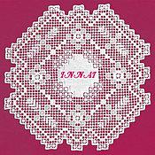 Для дома и интерьера handmade. Livemaster - original item Napkin Lace miniature, hand needle lace, linen. Handmade.