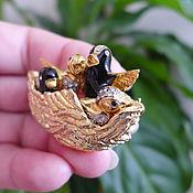Винтаж ручной работы. Ярмарка Мастеров - ручная работа Винтажная брошь «Гнездо». Handmade.