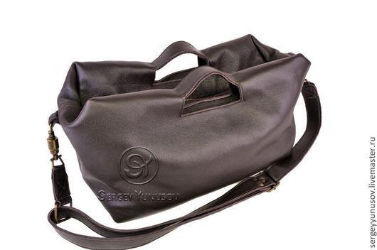Мужские сумки ручной работы. Ярмарка Мастеров - ручная работа. Купить Сумка Unisex 3. Handmade. Коричневый, Кожаная сумка