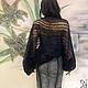 """Большие размеры ручной работы. Болеро безразмерное вязаное из итальянского мохера """"Тончайшая паутинка. Одежда для женщин шикарных размеров (seanna12). Ярмарка Мастеров."""