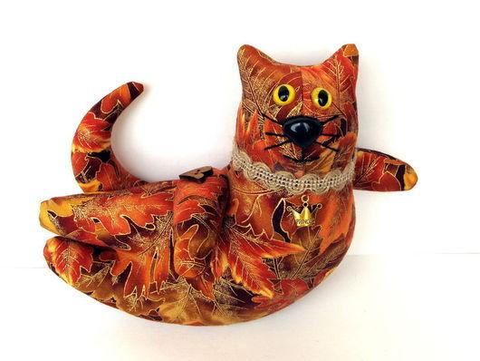 """Игрушки животные, ручной работы. Ярмарка Мастеров - ручная работа. Купить Игрушка летящий кот """"Принцесса Осени"""". Handmade. Подарок"""