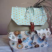 """Сумки и аксессуары ручной работы. Ярмарка Мастеров - ручная работа рюкзак """"Летнее утро"""", сумка, портфель, хлопок. Handmade."""