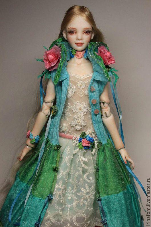 Коллекционные куклы ручной работы. Ярмарка Мастеров - ручная работа. Купить Шарнирная кукла Летний дождик. Handmade. Морская волна