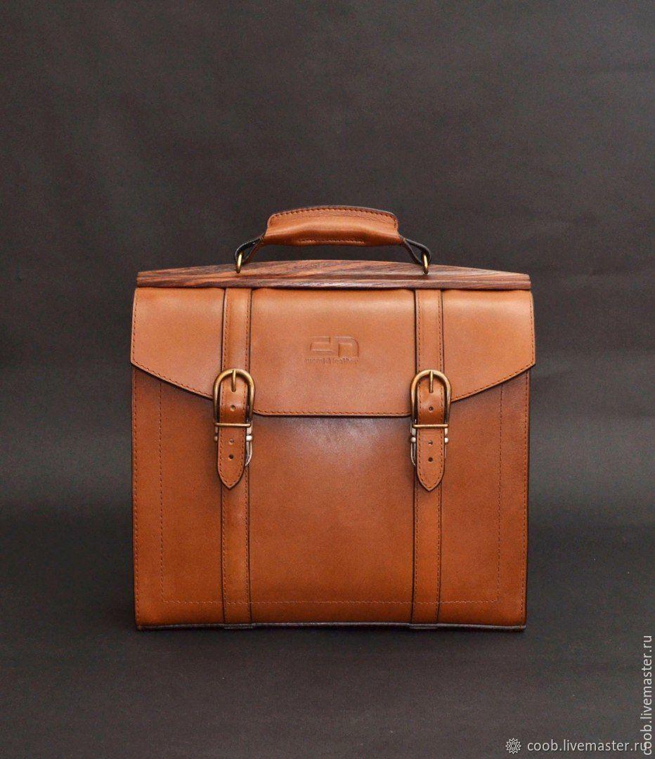6c054dba9560 Портфель из кожи с деревом, мужской портфель