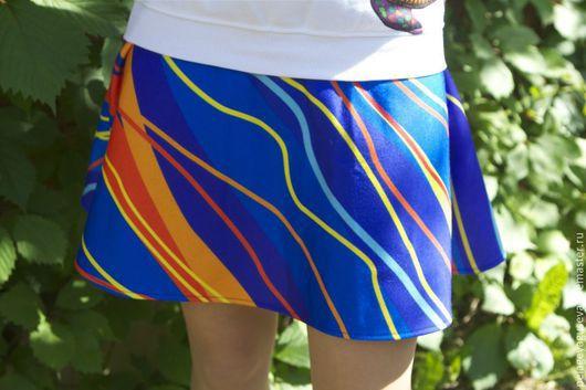 """Юбки ручной работы. Ярмарка Мастеров - ручная работа. Купить Юбка летняя """"Волны"""". Handmade. Разноцветный, юбка-солнце"""