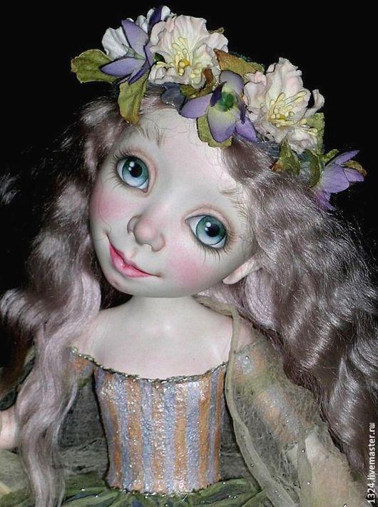 """Коллекционные куклы ручной работы. Ярмарка Мастеров - ручная работа. Купить Кукла """"Небесное создание"""". Handmade. Бледно-сиреневый, птица"""