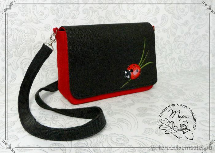 Handbags Handmade Livemaster Textile Bag Ladybug
