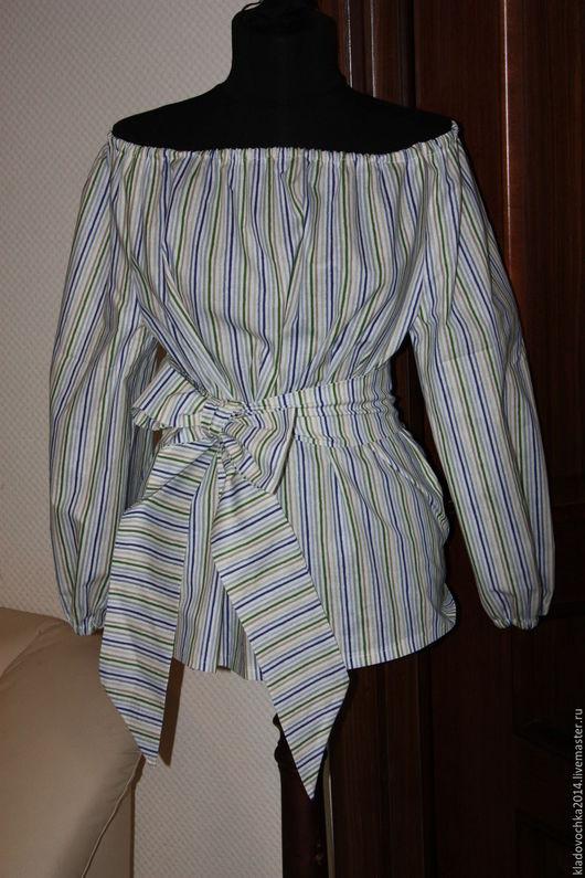 """Блузки ручной работы. Ярмарка Мастеров - ручная работа. Купить Блузка """"Любимая полосочка"""". Handmade. Комбинированный, блузка в подарок"""