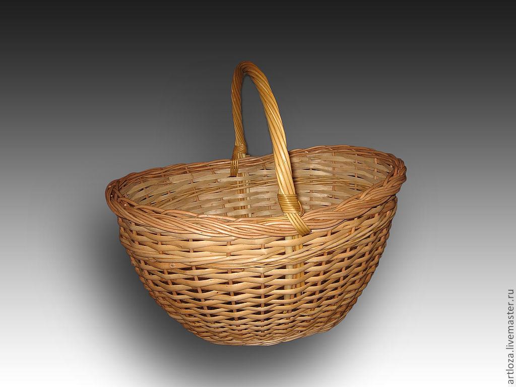 Корзина грибная плетеная из натуральной лозы, Корзины, Тамбов,  Фото №1