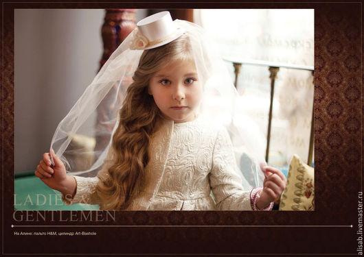 """Детская бижутерия ручной работы. Ярмарка Мастеров - ручная работа. Купить Шляпка с фатой """"Принцесса"""". Handmade. Кремовый, шляпка с фатой"""