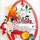 Открытка Светлой Пасхи! ярко-красная, Пасхальные сувениры, Москва,  Фото №1