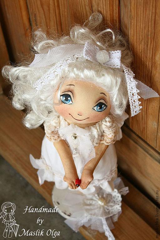 """Человечки ручной работы. Ярмарка Мастеров - ручная работа. Купить Ангел """"Хочешь, я подарю её тебе...?"""" Текстильная кукла-ангел, подарок. Handmade."""