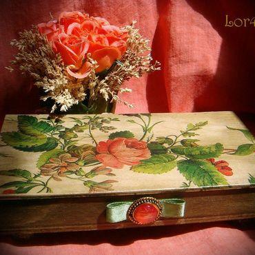 Для дома и интерьера ручной работы. Ярмарка Мастеров - ручная работа купюрница ``Коралловая Роза``. Handmade.
