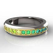 Украшения handmade. Livemaster - original item Ring SWiVEL SAPPHIRES Multicolor. Handmade.