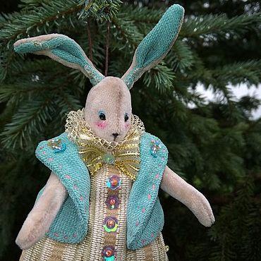Куклы и игрушки ручной работы. Ярмарка Мастеров - ручная работа Новогодняя кролик. Handmade.