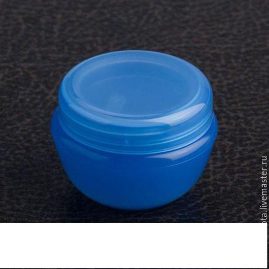 Упаковка ручной работы. Ярмарка Мастеров - ручная работа. Купить Баночка синяя 10 гр.. Handmade. Синий, баночка для крема