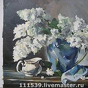 Картины и панно ручной работы. Ярмарка Мастеров - ручная работа Натюрморт с синим кувшином. Handmade.