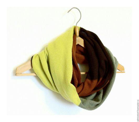 Шарфы и шарфики ручной работы. Ярмарка Мастеров - ручная работа. Купить Шарф снуд хомут труба Цветной. Handmade.