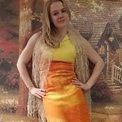 """Одежда ручной работы. Ярмарка Мастеров - ручная работа Валяное платье """"Оранж"""". Handmade."""