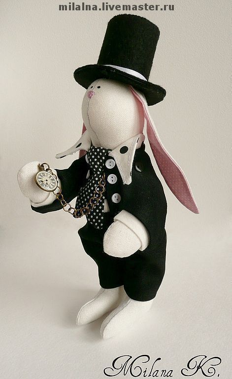 """Куклы Тильды ручной работы. Ярмарка Мастеров - ручная работа. Купить Игрушка """"Белый кролик"""" ( """"Алиса в стране чудес""""). Handmade."""