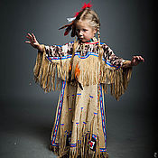 Работы для детей, ручной работы. Ярмарка Мастеров - ручная работа Индейская девушка сиу (лакота) карнавальный костюм. Handmade.
