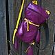 """Рюкзаки ручной работы. """"Кот Саймона""""-рюкзачок для планшета. Белая фуксия. Интернет-магазин Ярмарка Мастеров. Однотонный, рюкзак для планшета"""