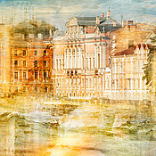 Картины и панно handmade. Livemaster - original item Photo painting watercolor Cityscape View of St. Petersburg. Handmade.