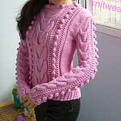 Одежда handmade. Livemaster - original item Jumper Rose souffle, merino wool, cashmere. Handmade.
