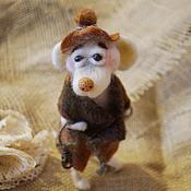 Мягкие игрушки ручной работы. Ярмарка Мастеров - ручная работа Мышонок с фонарем. Handmade.
