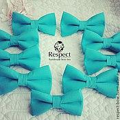 Аксессуары handmade. Livemaster - original item Butterfly bow tie Turquoise / turquoise wedding bow tie turquoise. Handmade.