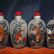 Винтаж handmade. Livemaster - original item Set of 8 Tiger bottles. Handmade.