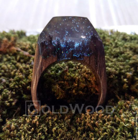 """Кольца ручной работы. Ярмарка Мастеров - ручная работа. Купить Деревянное кольцо """"Волшебная  принцесса 4"""", кольцо из дерева. Handmade."""