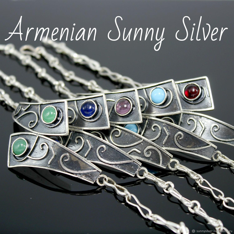 Sapir bracelet made of 925 sterling silver with stones GR0004, Chain bracelet, Yerevan,  Фото №1