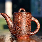 Посуда ручной работы. Ярмарка Мастеров - ручная работа Заварочный керамический чайник ручной работы Таинственный Лес. Handmade.