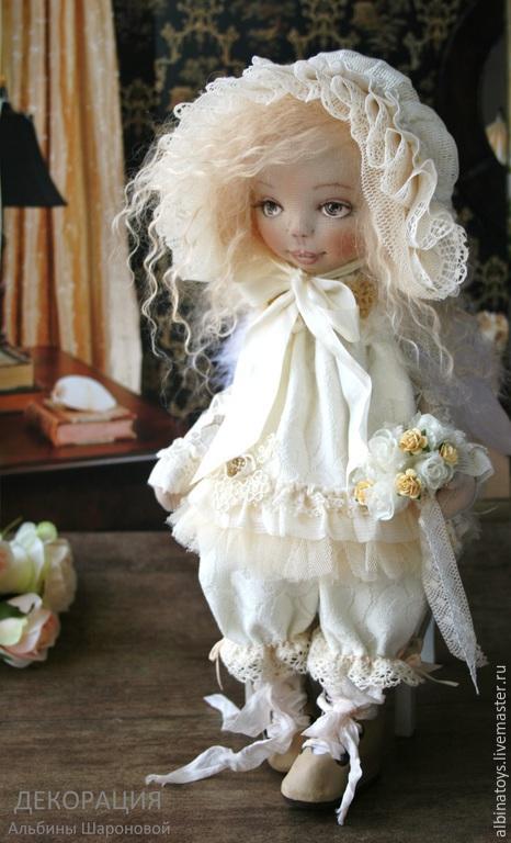 Коллекционные куклы ручной работы. Ярмарка Мастеров - ручная работа. Купить Куклы ангелы.Текстильная кукла ангел Cофи.. Handmade.