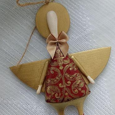 Для дома и интерьера ручной работы. Ярмарка Мастеров - ручная работа Ангел деревянный Ретро. Handmade.