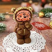 Косметика ручной работы handmade. Livemaster - original item Gift volumetric soap Tiger Cub in pajamas. Handmade.