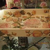 Для дома и интерьера ручной работы. Ярмарка Мастеров - ручная работа Поднос Розовые розы. Handmade.
