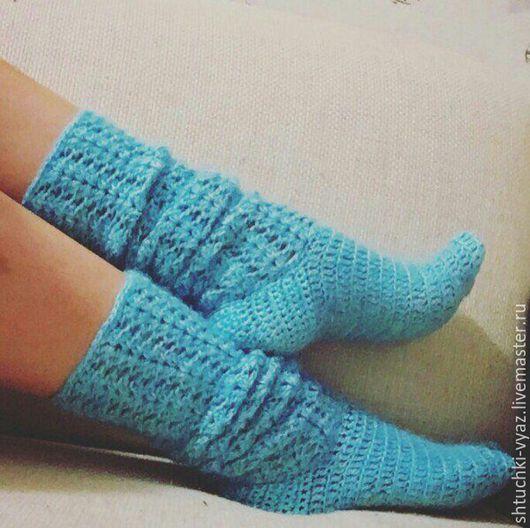 Носки, Чулки ручной работы. Ярмарка Мастеров - ручная работа. Купить Носки вязаные. Handmade. Розовый, носки теплые, носочки