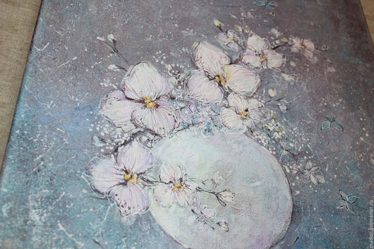 Картины цветов ручной работы. Ярмарка Мастеров - ручная работа. Купить Белые  орхидеи. Handmade. Белый, для интерьера, нежность