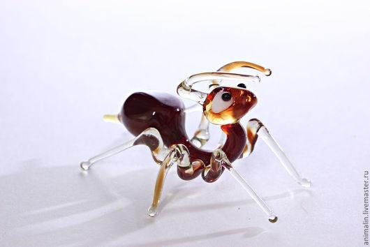 Статуэтки ручной работы. Ярмарка Мастеров - ручная работа. Купить стеклянная фигурка муравей. Handmade. Муравей, стекло