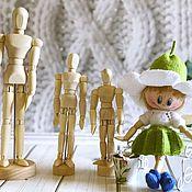 Заготовки для кукол и игрушек ручной работы. Ярмарка Мастеров - ручная работа Деревянные шарнирные человечки. 11,5; 14 и 20 см.. Handmade.