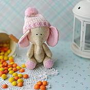 Куклы и игрушки ручной работы. Ярмарка Мастеров - ручная работа Слоник бежевый. Handmade.