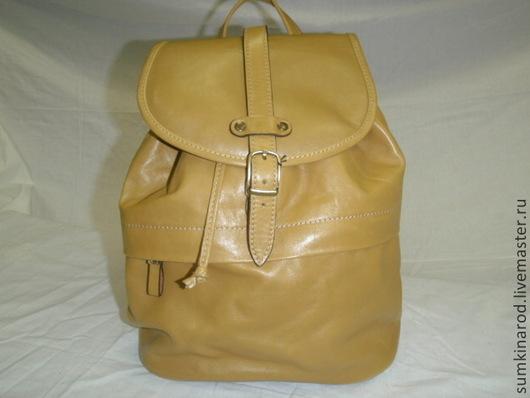 Рюкзаки ручной работы. Ярмарка Мастеров - ручная работа. Купить Кожаный рюкзак Горчица ( Новинка). Handmade. Желтый