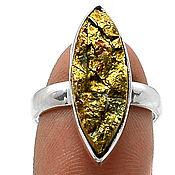 Украшения ручной работы. Ярмарка Мастеров - ручная работа Кольцо перуанский золотой Пирит. Handmade.